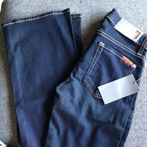 7 For All Mankind Mid-Rise Skinny Boot Cut 24